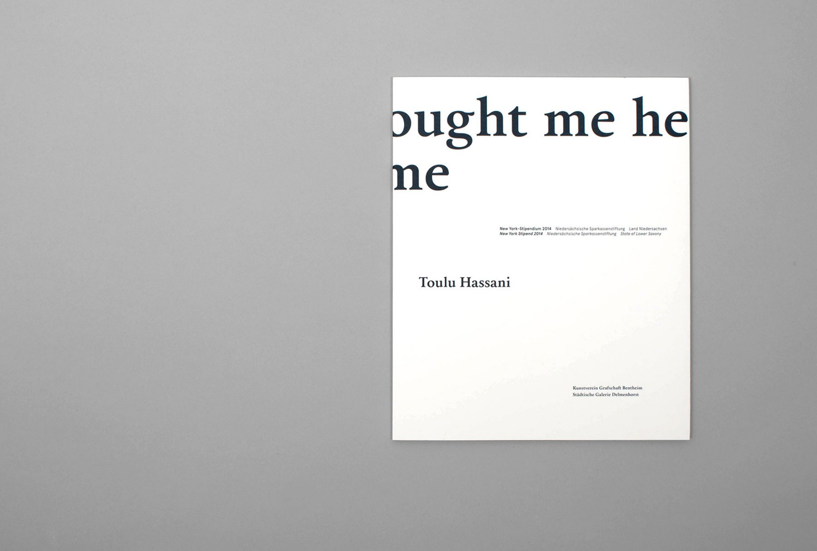 Toulu Hassani—whoever brought me here has to take me home